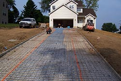 installation of heated driveway systems snow melting systems Hydronic Driveway Heating System snow melting installation for heated driveway